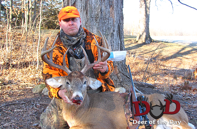 Having passed on three smaller bucks during Wisconsin's traditional firearm season, Jason Thorman