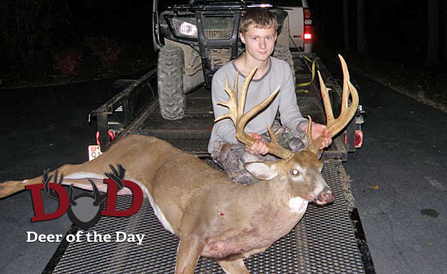 While hunting the opening day of a special youth hunt in St. Mary's County, Maryland, Brian