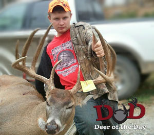 While hunting with his uncle in southern Missouri, 12-year-old Levi Garrison harvested this