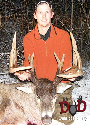 I live in Central Alberta, Canada and took this buck on November 11, 2011 with my .270 WSM at 165
