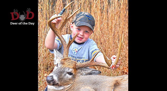 While hunting with his father Ben, 6-year-old Alex Perdue took this great buck near Jackson