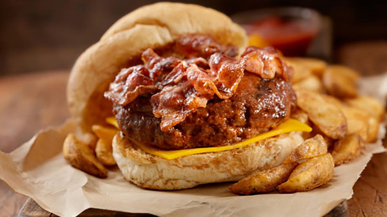 Venison Bacon Cheeseburger