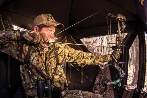 Inside Deer Hunting Blinds