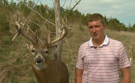 An Iowa Hunter tells the story of how he nabbed a 30 point buck with his shotgun.