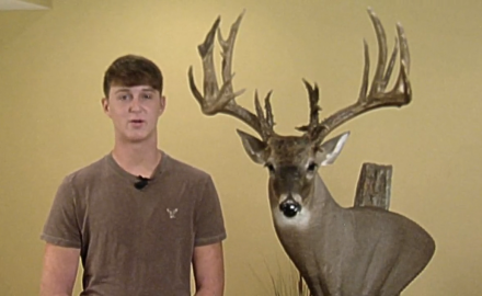 A Young hunter tells the story of how he took his trophy deer named PeeWee.
