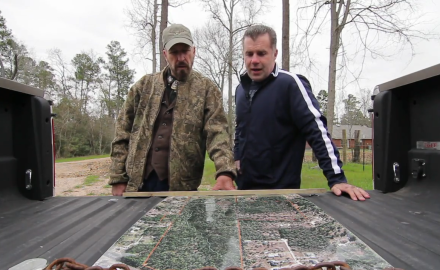 Dr. James Kroll meets with a Texas landowner to take a look at his