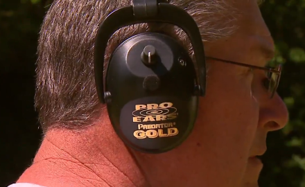 Gordon Whittington highlights the importance of protecting your ears on the firing range.