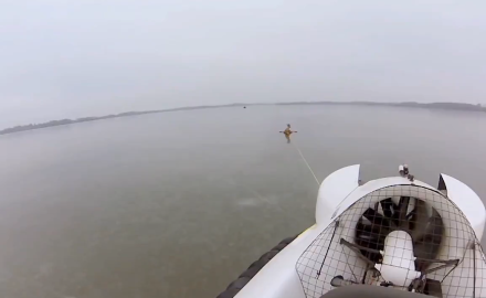 A southern Minnesota man rescues 3 whitetail deer that were stuck on a frozen lake.