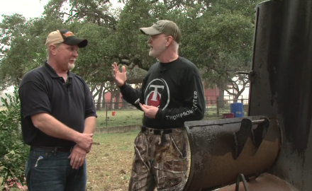 Gordon Whittington talks with his brother offer advice on how to cook wild pork.
