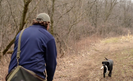 Jeremy Moore offers instruction on introducing your deer dog to their first retrieve.