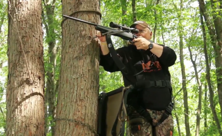 Stan Potts offers tips on keeping your rifle steady in a treestand.