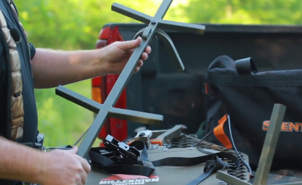 Mike Clerkin talks about staying safe while setting up a tree stand.