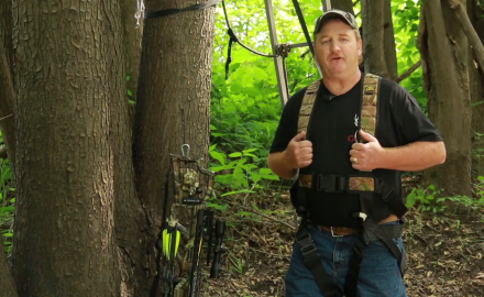 Mike Clerkin explains crossbow safety for tree stand hunters.