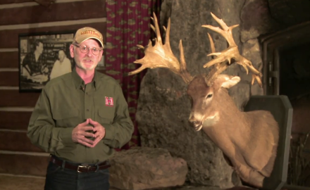 Godon Whittington highlights a spectacular buck taken back in 1910 in the wildnerness of Maine.