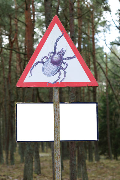 Areas where Lyme disease is prevalent sometimes have signs of warning.