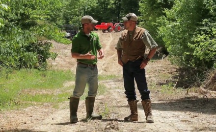 Pat Hogan and James Kroll are on a deer factory parcel in Kentucky  where they are planning food