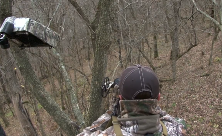 Pat Hogan is in southeastern Minnesota armed with his bow in search of a nice buck.