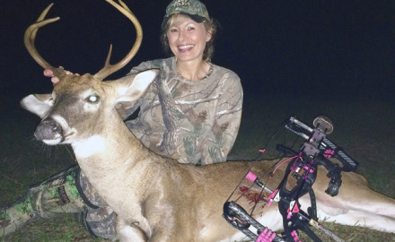 Killing bucks with her rifle was nothing new, but Krissy had never killed one with her bow.  At my