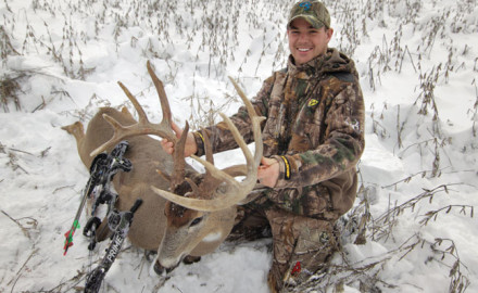 Although January's not a time typically associated with killing huge bucks, many Midwestern states