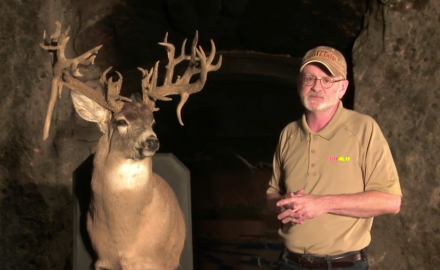 The Chris Theis buck is an amazing trophy in more ways than one.  The buck, shot in 1992, has a
