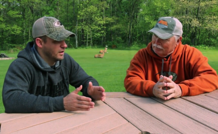 Pat Hogan and Stan Potts discuss ways to get out of your deer stand with out tipping off the deer.