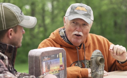 Pat Hogan and Stan Potts discuss the importance of conducting trail camera surveys.