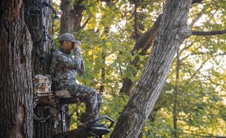 The current trend in bowhunting is to do everything in one's power to draw a buck to a specific