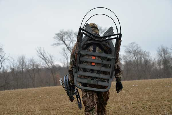 Getting into your stand site without spooking deer takes planning. Consider multiple routes into and out of your stand to keep the wind in your favor and your scent stream away from bedding areas.