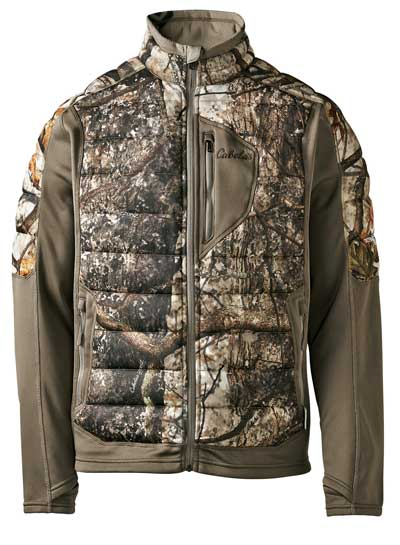 Scent-blocking clothing, like Cabela's Men's Bow Series Insulator jacket and pants with ScentLok, are a key part of your scent-eliminating strategy. Strategically zoned 3M Thinsulate Platinum Insulation regulates body temps, ScentLok Carbon Alloy technology combats game-spooking odors while articulated knees and an elasticized waist allow you to move freely.