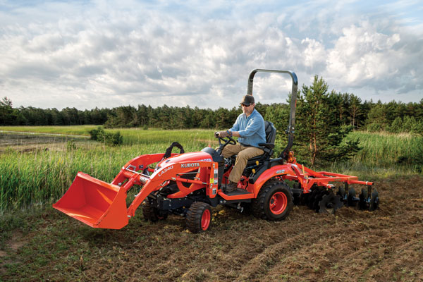 A smaller tractor, like those in Kubota's BX Series, http://www.kubota.com/product/BXSeries.aspx is perfect for year-round deer management. It can handle everything from getting food plots in the ground, to managing them and other food sources through the entire season.
