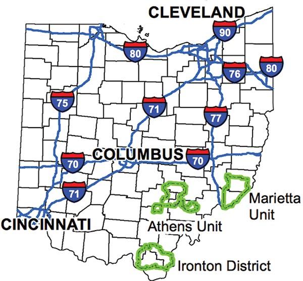 Ohio-Map