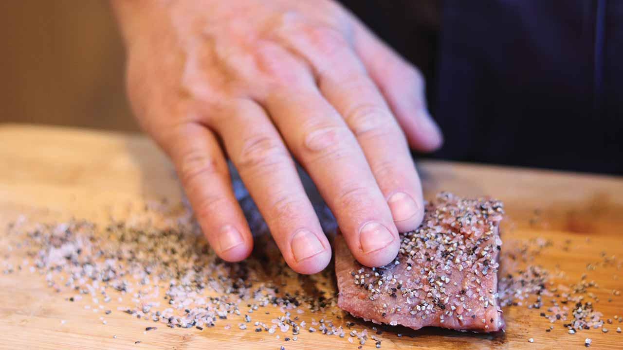 Venison Steak Au Poivre Recipe