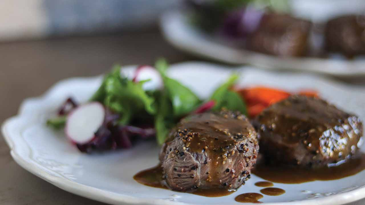 Venison Steak Au Poivre Recipe