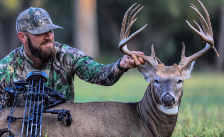 Forty acres was all Florida bowhunter Brett Cannon needed to arrow a massive Nebraska buck last season. It gross-scored an impressive 182 inches!