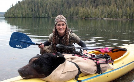 Bear for kayak ride