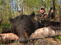Bob Kaleta of Zeiss with his bruiser black bear