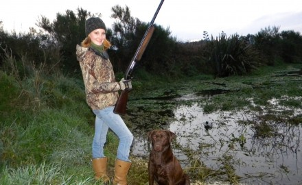 Cadbury is a bird dog in training!