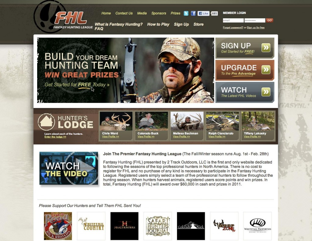 Fantasy Hunting League Website