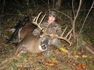 An Ohio 11-pointer is the kill of a lifetime for one young hunter.  Zach Barker, 12, shot this big