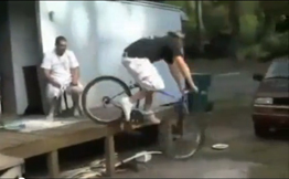 Fall off bike