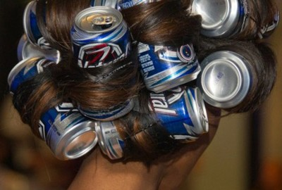Awesome Redneck Moment of the Week: Dec. 19, 2011  Rollers are just so expensive. Natural Ice is