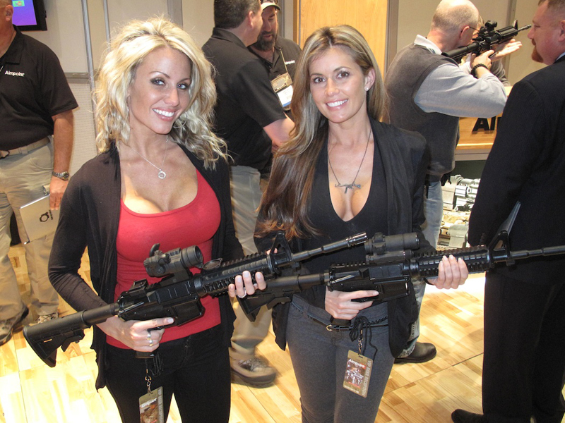 Booth Babes from the 2012 SHOT Show
