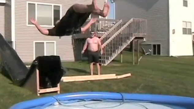 Redneck Waterslide Fail
