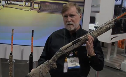 The brand new Franchi Affinity semi-automatic shotgun was introduced Tuesday at SHOT Show in Las