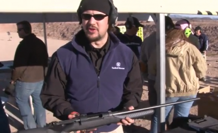 Matt Rice of Thompson/Center Arms introduces us to the Thompson/Center Dimension Rifle at the 2012