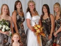 Camo bridal party