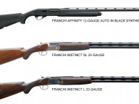 From top to bottom: Franchi Affinity 12-Gauge Auto in Black Synthetic, Franchi Instinct SL 20-Gauge, & Franchi Instinct L 20-Gauge
