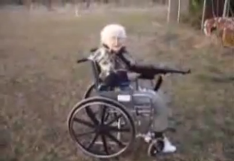 Machine Gun Granny Will Shoot You in the 'Toodles'
