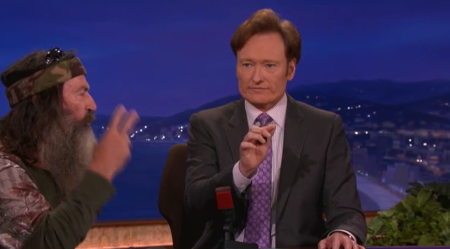 Conan O'Brien Tries Calling with Duck Dynasty Stars