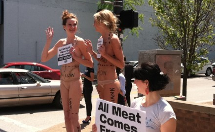 PETA's efforts to sway public opinion to